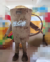 brown coffee cup mascot costume for adults