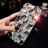 New Luxury Phone Cases For IPhone 5s SE 6 6s 7 Plus 3D Bling Rhinestone Cover