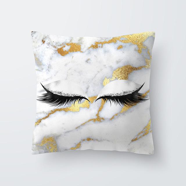 Eyelashes Printed Cushion Cover