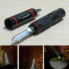 Security protection Tactical Pen Self Defense Multifunction LED Flashlight Outdoor Survival Torch self-defense Tool mini Black