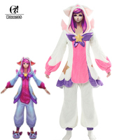 ROLECOS LOL Lux Cosplay Costume Pajama Star Guardian LOL Cosplay Costume Lux Pajama for Women Winter Pajama Coral Fleece Game