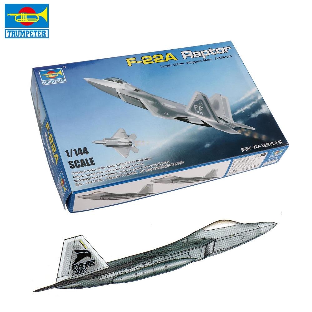 1//144 Trumpeter USA YF-22 Flugzeug Modell Blitz II Militär Luft Handwerk
