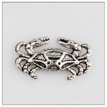 Wholesale 50pcs jewelry made of Tibetan silver beach crab charm custom handmade pendant
