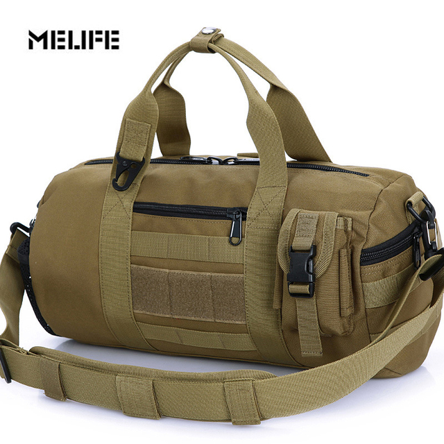 Melife 2017 New Multi Function Military Man S Canvas Molle Army Bag Outdoor Sports Duffle