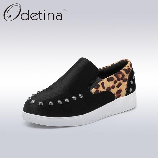 Mode Rivets Mocassins Chaussures femme tQ4II
