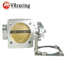 VR RACING NEW THROTTLE BODY For Mitsubishi Evo 4 5 6 70mm Uprated Racing Billet Throttle