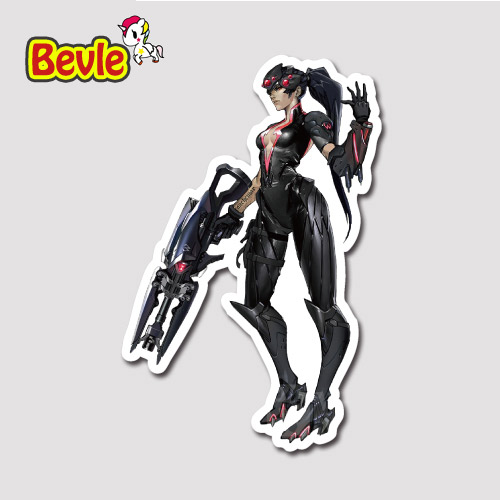 Bevle 9121 OW Shooting Game Widowmaker Stickers Geezer Notebook Waterproof 3M Sticker Skateboard Car Graffiti DIY