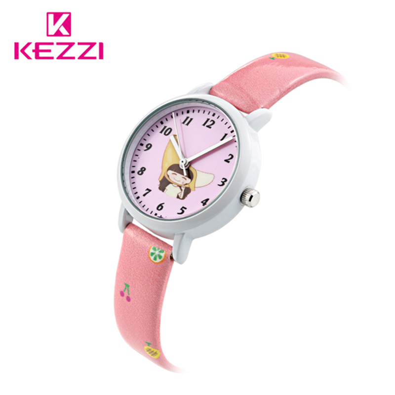2017 New Cute Girls Cartoon Children Watch Girl Kids Student Fashion Leather Sports Analog Quartz Wristwatches Relojes k1465 free shipping cute cartoon chick children watch girl kids student fashion leather sport analog quartz wristwatches relojes k1600