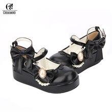 cbccb4cb ROLECOS Lolita dulce zapatos para mujeres de tacón grueso zapatos de  plataforma con el tobillo correa