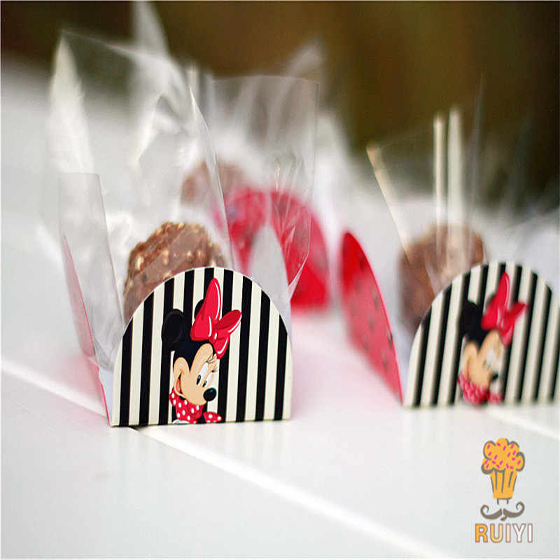 50pcs/lot Minnie cupcake wrappers kids birthday party festival chocolate candy box baby shower forminhas para doces AW-0502