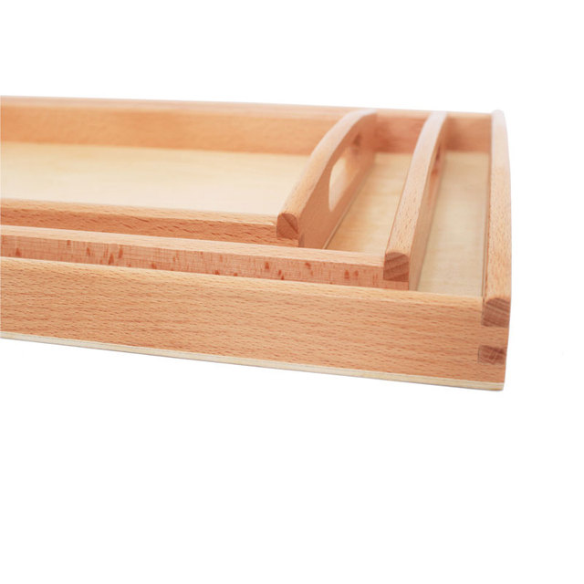 Wooden Tray Set