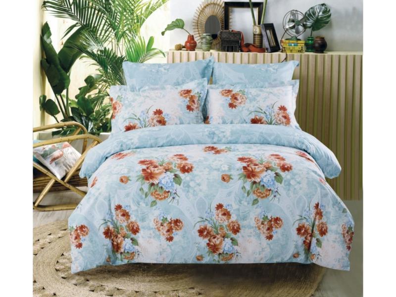Bedding Set double СайлиД, B, red flowers bedding set полутораспальный сайлид red flowers