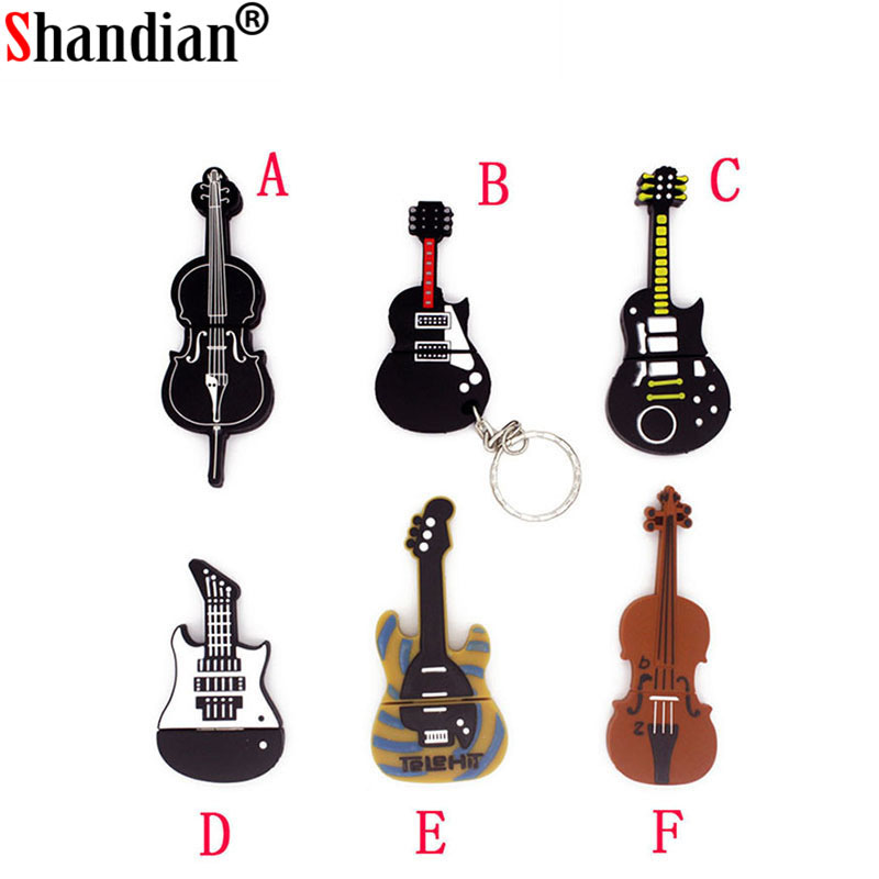 Usb Flash Drives Shandian Pendrive Cartoon Musical Guitar/violin/piano/harmonica/music Note Pendriver Pen Drive 4gb 8gb 16gb Usb Flash Drive Good For Energy And The Spleen Computer & Office