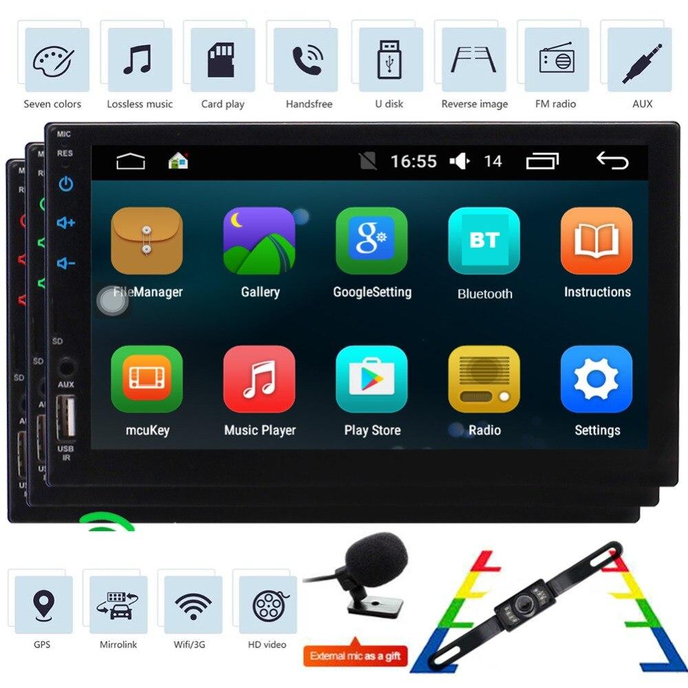 Android 6,0 стерео в тире 7 дюймов сенсорный экран автомагнитолы gps навигация авто радио магнитола с Bluetooth Поддержка Wi Fi/3g OBD2