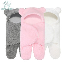Newborn Sleeping Wrap Swaddle Baby Cotton Plush Boys Girls Cute Receiving Blanket Sleeping Bag Sleep Sack (0-6 Month) недорого