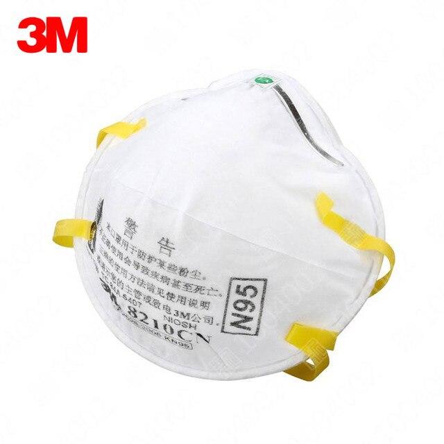 20 Maskeleri Parçacıklar kutu Solunum Anti 5 N95 Standartları 2 Maskesi Parçacık 3m Toz Pm Adet Çalışma 8210