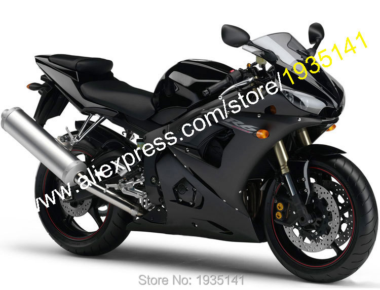 Hot Sales,For Yamaha YZF R6 05 Parts YZF-R6 2005 YZF600 YZFR6 Black Sportbike Aftermarket Motorcycle Fairing (Injection molding) aftermarket free shipping motorcycle parts eliminator tidy tail fit for 2006 2012 yzf r6 yzf r6 yzfr6