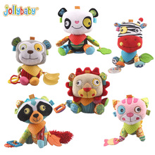 Jollybaby Soft Animals Bunny Plush Pacify Doll Baby Rattles With Teether Baby Stroller Crib Bed Hanging Multifunction Kids Toy