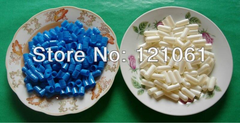 00 piezas 10.000 unidades, cápsulas unificadas o separadas tamaño 00, cápsulas vacías Azul Blanco tamaño 00, cápsulas vacías de gelatina dura-in Huchas from Hogar y Mascotas    2