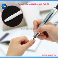 White Ceramic Nail Fill Drill Bit Pro Bits For Electric Nail Art Machine Cuspidal Grinding Stone