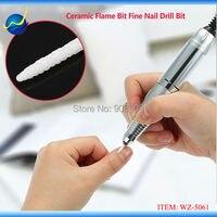 White Ceramic Nail Fill Drill Bit Pro Bits For Electric Nail Art Machine Cuspidal Grinding Stone
