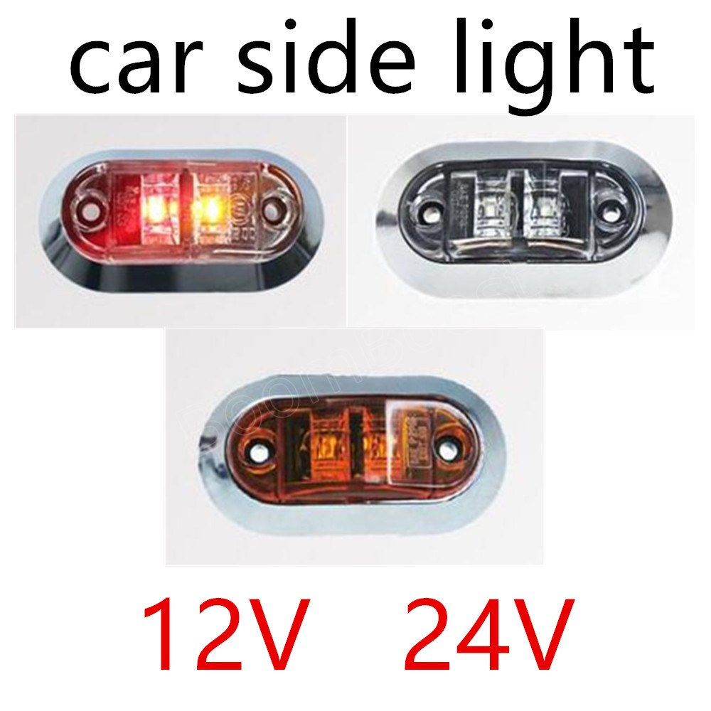3 Colors For Choice 1 Piece 12V 24V LED Side Marker Light Clearance Lamp Car Truck Trailer BUS Rear Lamp External Lights image