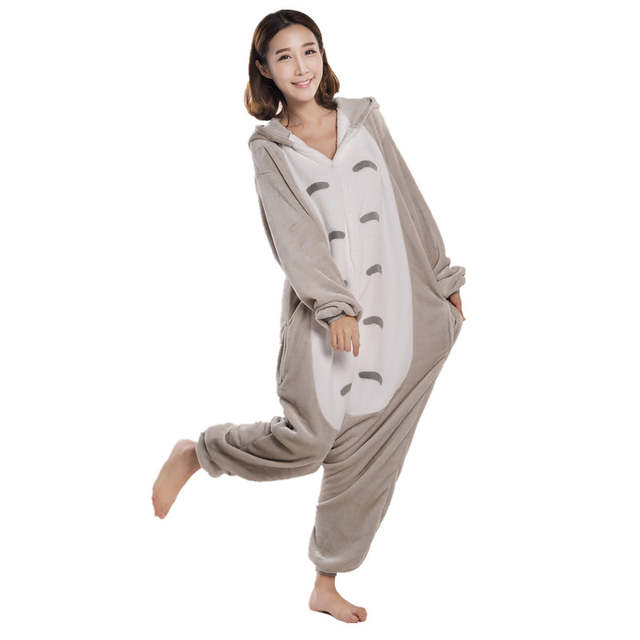 2464f2210e placeholder Cartoon Anime Unisex Adult Cosplay Costume My Neighbor Totoro  Onesie Pajama For Halloween Carnival Masquerade Party