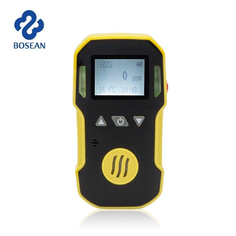 Sulfure d'hydrogène H2S détecteur de gaz détecteur de fuite de gaz H2S moniteur avec son + lumière + alarme de choc capteur de gaz professionnel