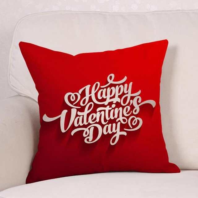 f194d288d35cff R$ 18.54 |Confortável Impressão Vermelho Bonito Em Forma de Coração Amor  Travesseiro Caso Capa de Almofada Decoração de Casamento Romântico ...