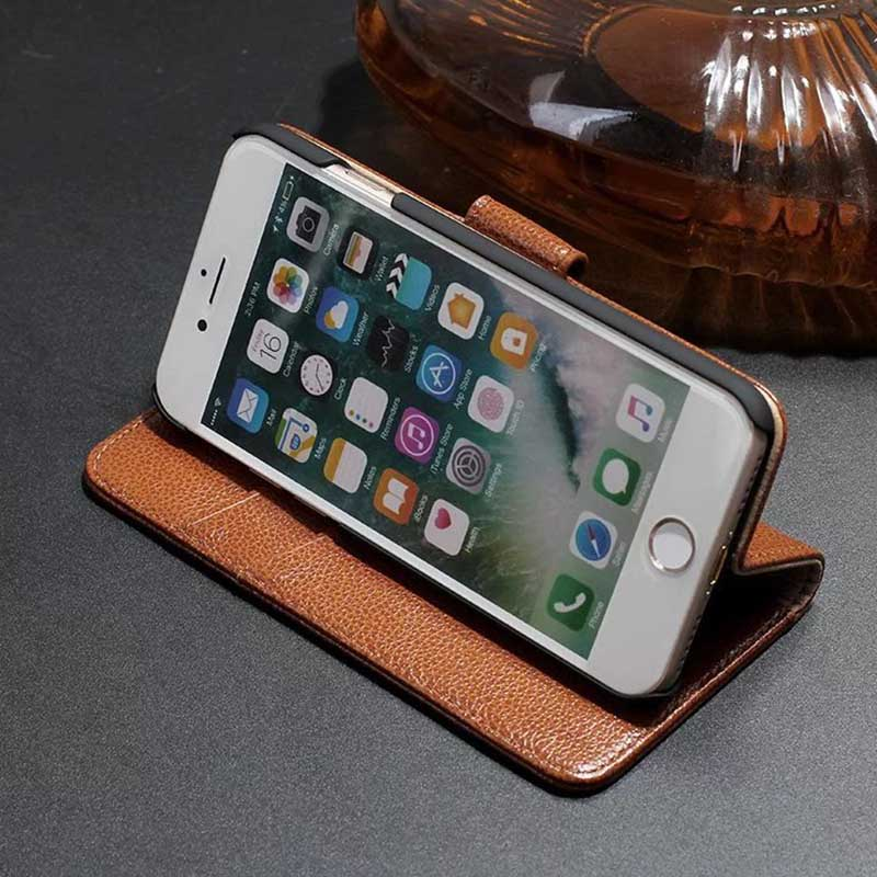 İPhone 7 üçün ən yeni hallar iPhone 6 üçün Orijinal dəri - Cib telefonu aksesuarları və hissələri - Fotoqrafiya 5