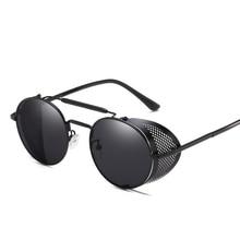 Vintage Steampunk Round Sunglasses Men 2019 Fashion Retro Punk Sun Glasses Women Brand Designer Mirrored Sunglass UV400 Oculos стоимость