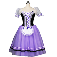 Giselle Ballet Costumes Purple Ballerina Stage Dance wear Performance Professional Adult Brown Romantic Ballet Tutu Long Dress