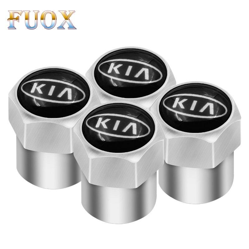 4pcs Car-Styling Car Wheel Tire Valve Tyre Caps Case For KIA Sid Rio Soul Sportage Ceed Sorento Cerato K2 K3 K4 K5 Accessories