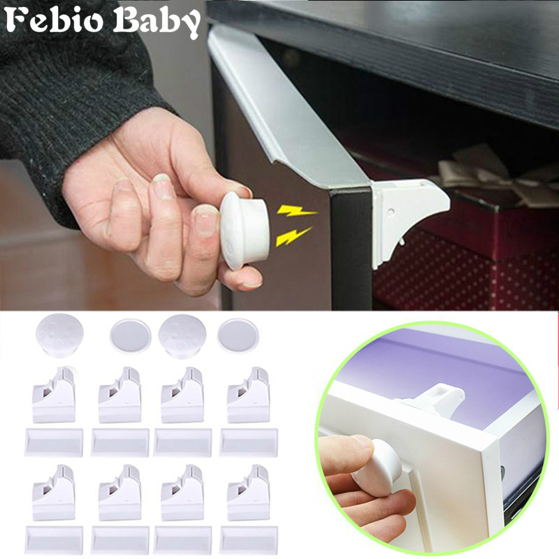 Brand New 16Pcs Magnetic Child Lock Baby Safety Baby Protection Cabinet Door Lock Kids Drawer Locker Security Invisible Locks