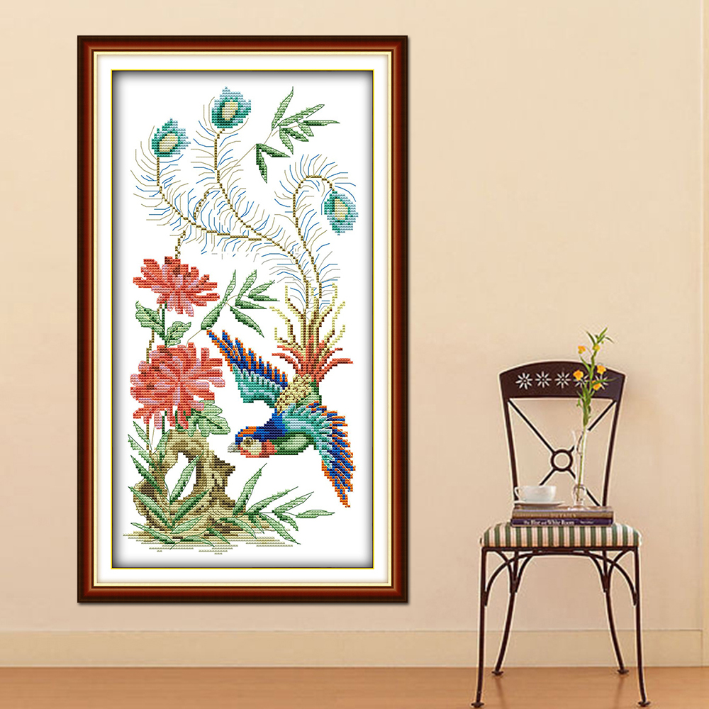 Lower Price with Shopping Festival Shop Scenery Painting Dmc 14ct 11ct Counted Cross Stitch Needlework Set Embroidery Kits Chinese Cross Stitch Modern Design Cross-stitch Home & Garden