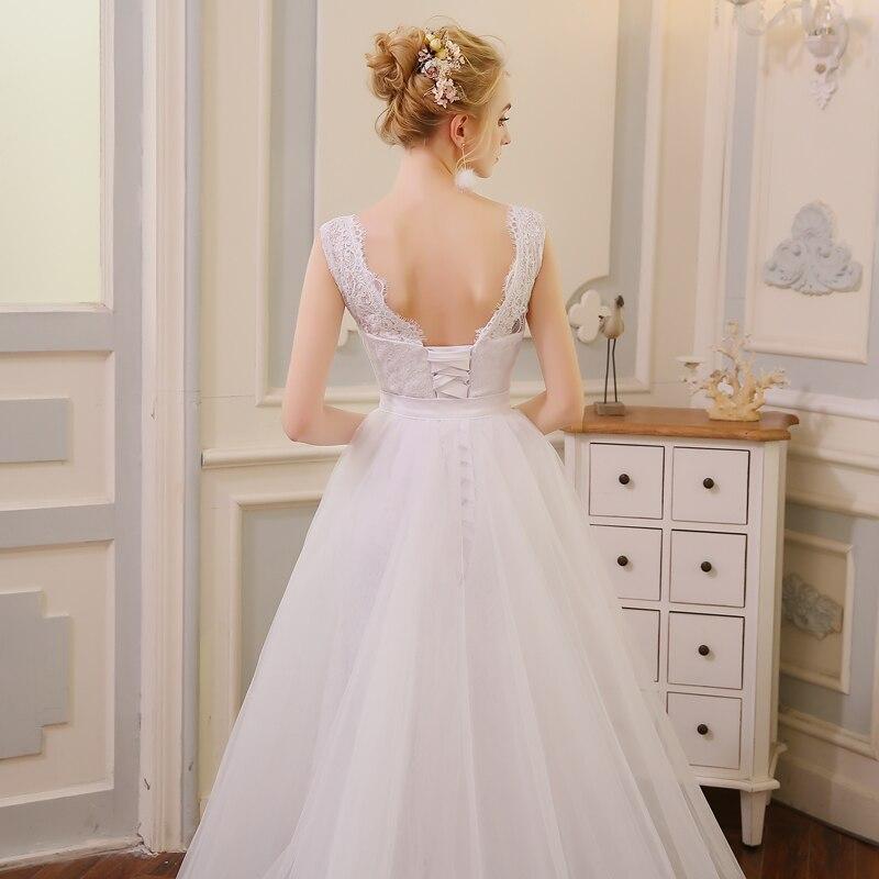 QQ Lover 2 i 1 Mermaid Bröllopsklänning med Tulle Avtagbar Tåg - Bröllopsklänningar - Foto 5