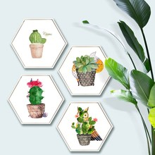 Nordic plants abstract bedroom wall painting living room background corridor mural Hotel decorative
