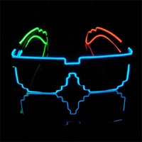 2016 New Year Neon Led Light Glasses EL Linght Up For Christmas Party Hot Sale