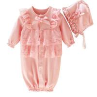 Bebek Çocuklar Spor takım elbise Moda Sevimli Yenidoğan Bebek bebek Çocuk Kız Kap Şapka + Dantel Romper Tulum Giyim Seti Kıyafet P3