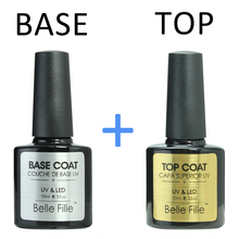Base And Top Coat UV Gel Nail Polish Transparent 10ml Soak Off Long Lasting Primer Lacquer Nail Manicure Vernis Semi Permanent