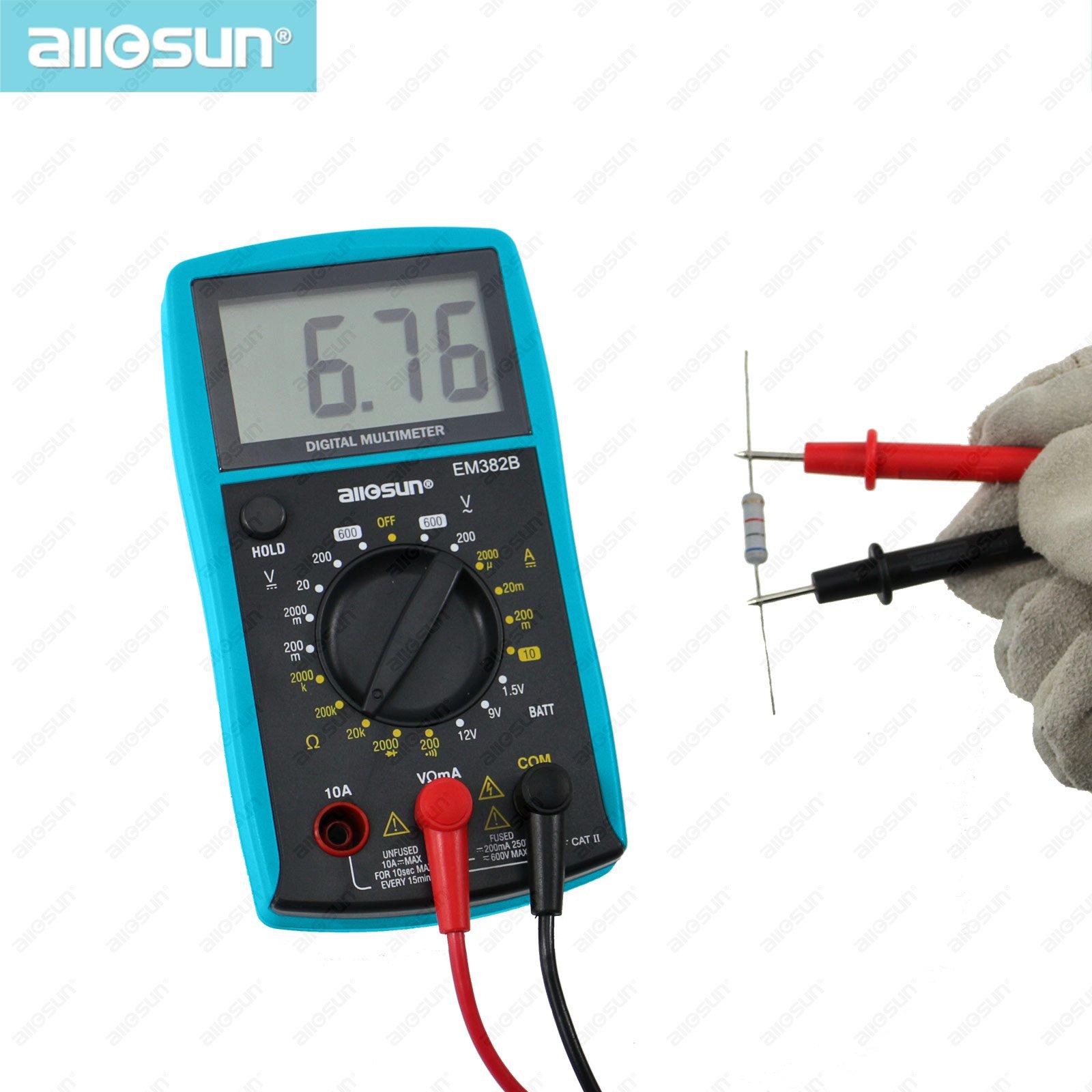 all sun LCD Digital Multimeter DC/AC Voltmeter Continuity Battery ...