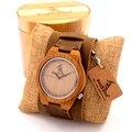Bobobird Z010 Design De Madeira De Bambu de Luxo Da Marca Relógios Chicago Pulseiras de Couro Genuíno Bandas Straps Mens Relógios Marca de Topo