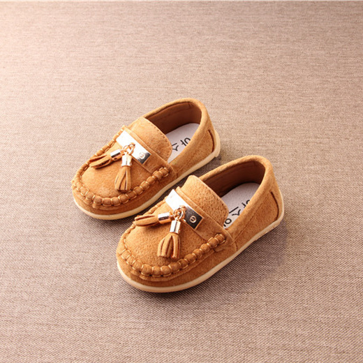Koovan Children Flats 2017 Leather Shoes Children's Shoe Single Boys Girls Baby's Tassel Moccasins Firstwalker Toddlers Peas
