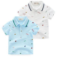 AJLONGER Boys Shirts Color Short Sleeve Summer Top Polo Shirt 2T-6T Kids Clothes Cotton Camiseta Toddler Boy Tees