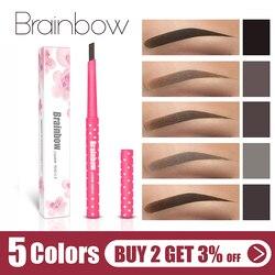 Карандаш для бровей Brainbow waterproof водонепроницаемый долговечный, автоматический карандаш для бровей + 3 набор для перманентного макияжа брове...