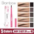 Brainbow lápiz de cejas duradero resistente al agua duradero automática delineador de cejas + 3 ceja forma plantillas aseo Kit de herramienta de maquillaje