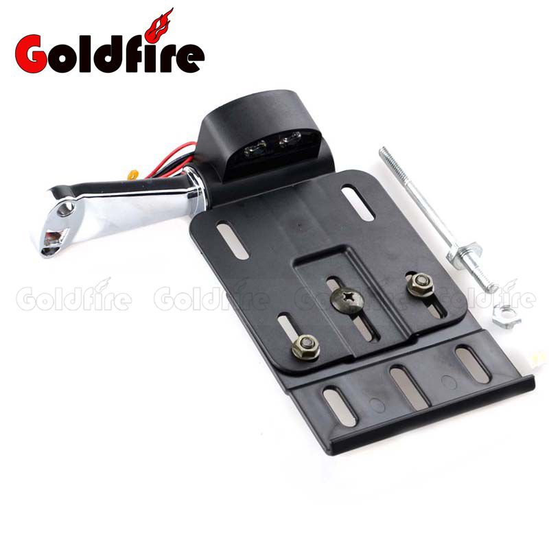 Motorcycle LED Light Side Mount License Plate Holder Bracket For Harley Sportster 883 1200 48 2004-2016  2015 2014 2013 2012 for honda xr 250r 1996 2003 xr 400r 1996 2004 license plate holder mount led lights bracket