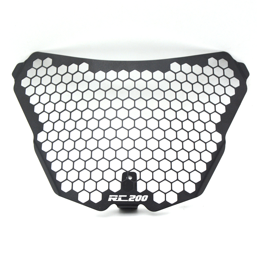 RC200 New Motorcycle Accessories Headlight Grille Guard Cover Protector For KTM RC200 RC 200 rc200 rc 200 2014 2015 2016 in Headlight Bracket from Automobiles Motorcycles