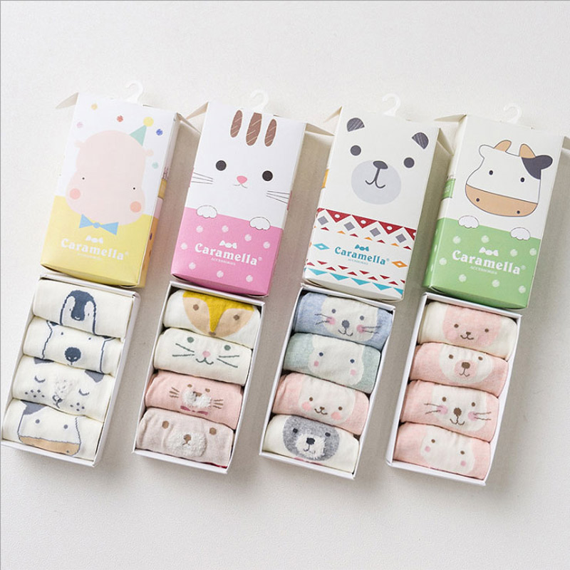 [Caramella] 8 Pieces/Lot Baby Socks Set New Infant Toddler Girl Boy Children Short Socks Cotton 0-3 Years For Spring Autumn