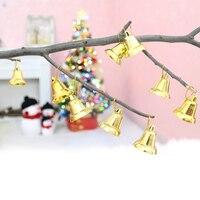90 pçs/lote Árvores de Natal Sino Pendurado Pendents Mini Ouro Jingle Bell Ornamento X'mas Partido Banquete Favores Decorativos HX574